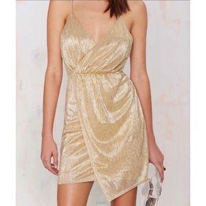 Nasty Gal Gold Sparkle Dress